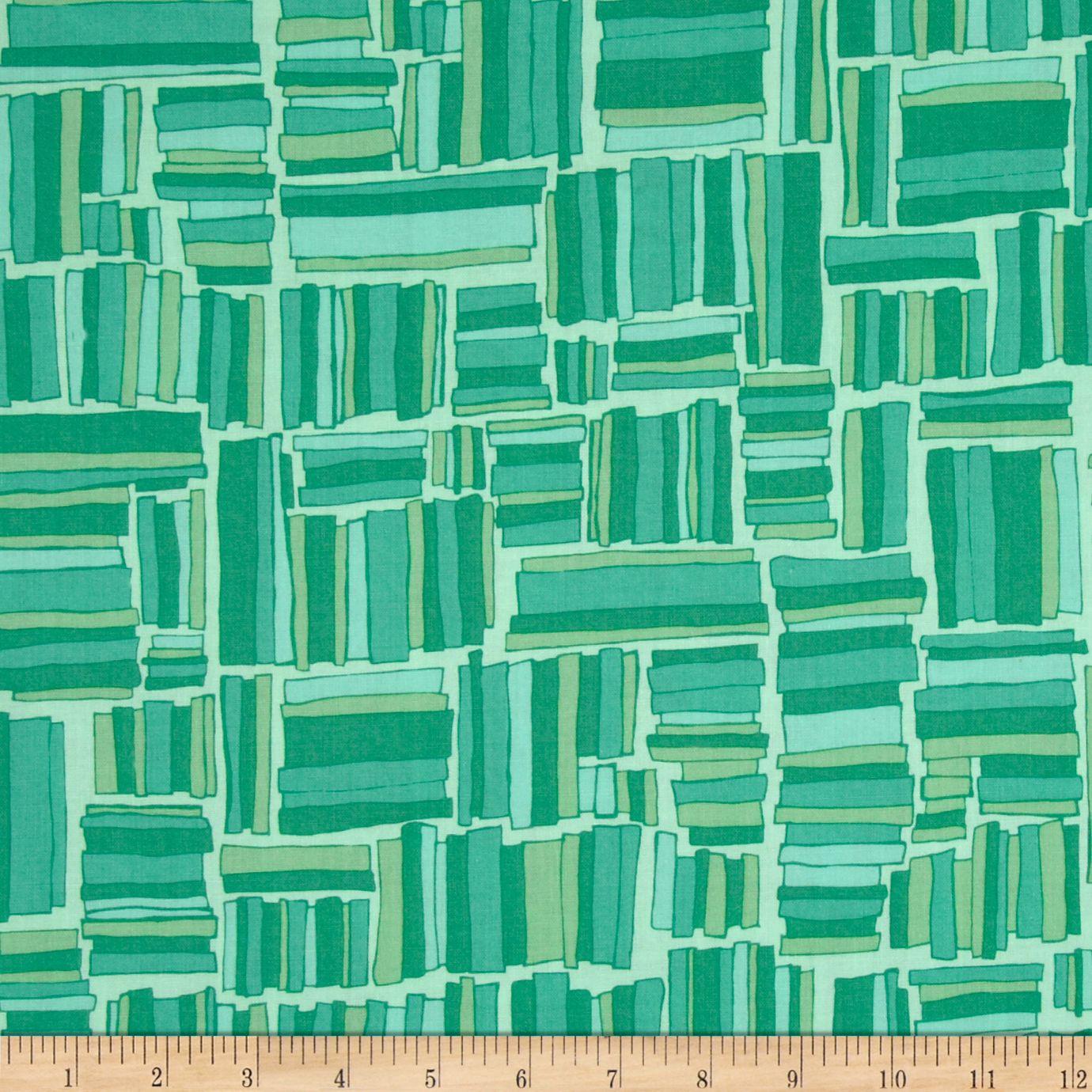 Valori Wells Quill Mod Plaid Emerald Turquoise Fabric