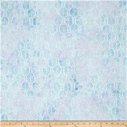 Batavian Batik Palm Texture Little Blue