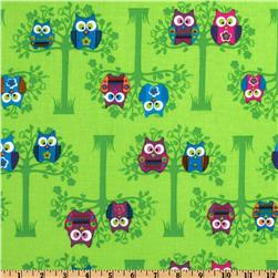 Owls Sitting Pretty Green