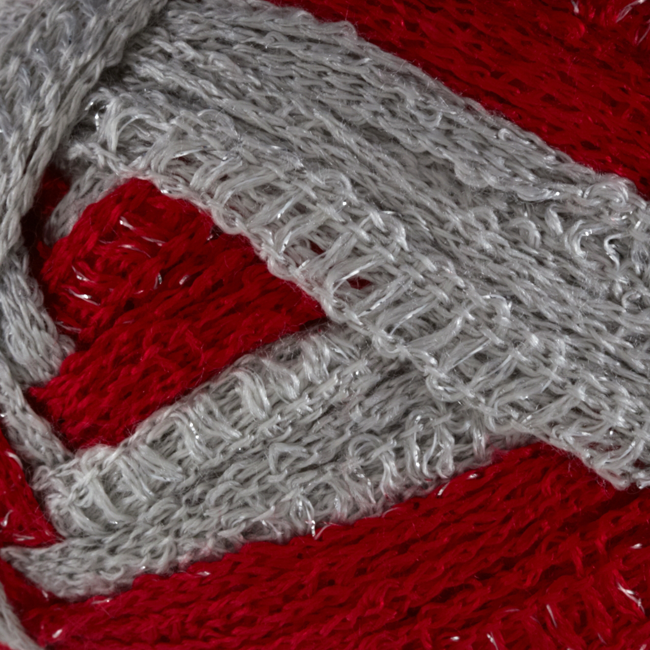 Red Heart Boutique Sashay Team Spirit Yarn Red/Grey