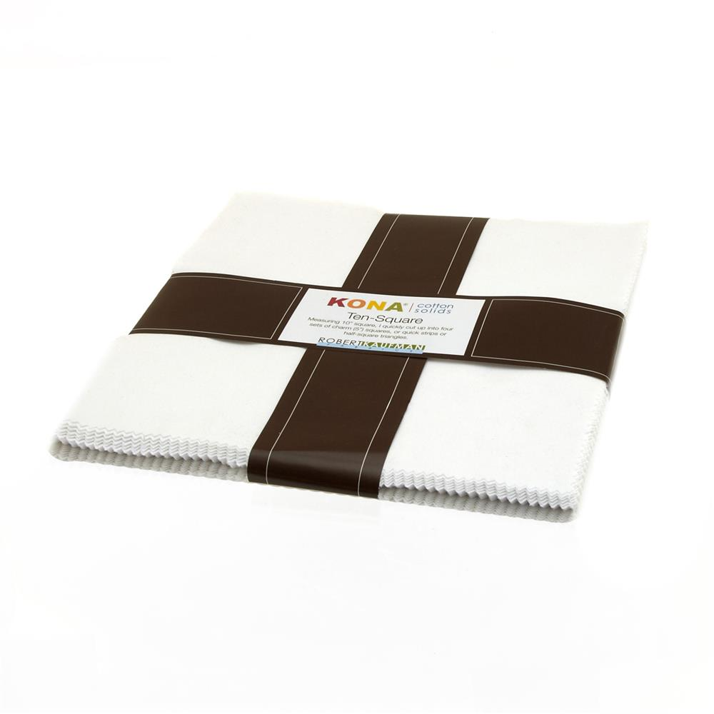 Kona Cotton White Ten Squares