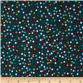 Party Animals Organic Confetti Dots Teal
