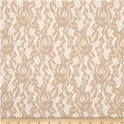 Camellia Lace Solid Tan
