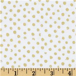 Confetti Sparkle Metallic Dots White