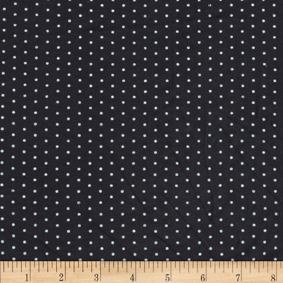 Stretch Bamboo Rayon Jersey Knit Dot Black