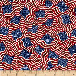 Jim Shore Patriotic Patriotic Flags Blue