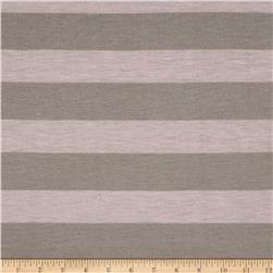 Jersey Knit Stripe Grey/Pink