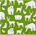 Contempo Nordic Holiday White Animals Green