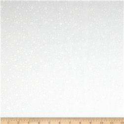 108'' Wide Essentials Quilt Backing Dot Burst White-on-White