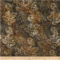 Artisan Batiks Cornucopia Large Leaves Expresso Fabric