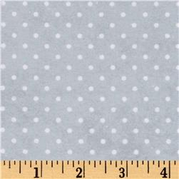 Arctic Antics Flannel Dot Gray