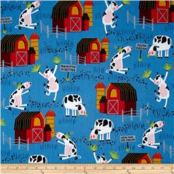 Bessie & The Diaryinettes Cow Farm Blue