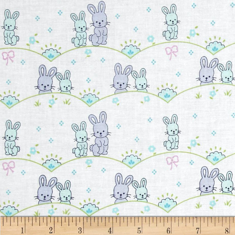 Michael Miller Cynthia Rowley Oh Baby Bunny Scallop Blue