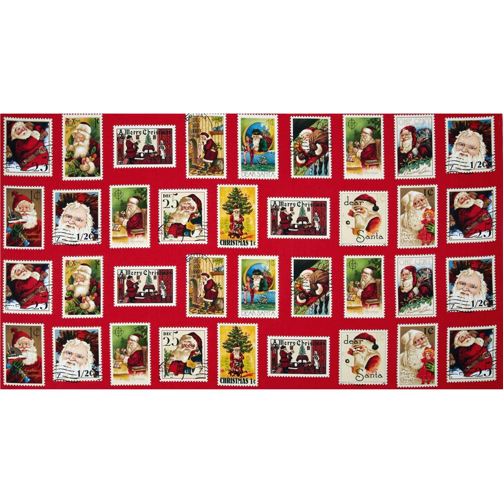 Dear Santa Panel Santa Stamps Set Red