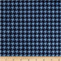 Minky Cuddle Houndstooth Navy/Sky