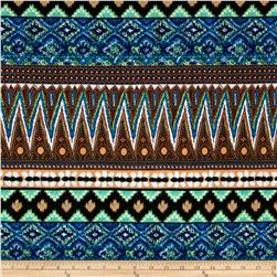 Stretch ITY Jersey Knit Ikat Tan/Multi