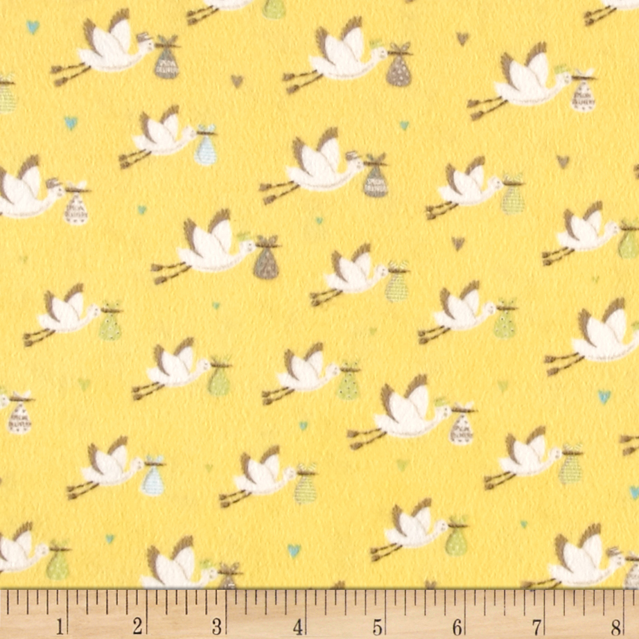 Moda sweet baby flannel special delivery sky fabric by the for Baby fabric by the yard