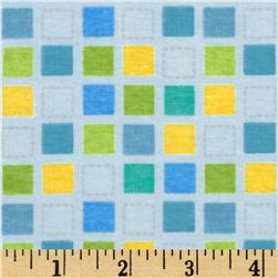 Alpine Itty Bitty Bugs Flannel Mosaic Blue