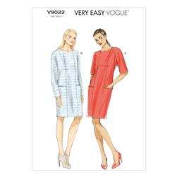 Vogue Misses' Dress Pattern V9022 Size 0Y0