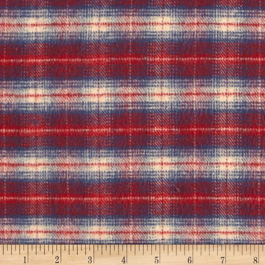 PRIMO COUNTRY SQUIRE FLANNEL PLAID 1 BLUE/RED/CREAM Fabric By The Yard