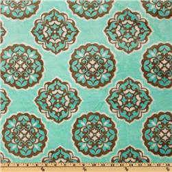 Mar Bella Minky Barcelona Cuddle Marina Blue Fabric