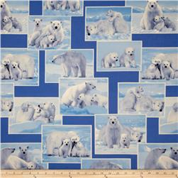 On The Wild Side Flannel Polar Bear Blue