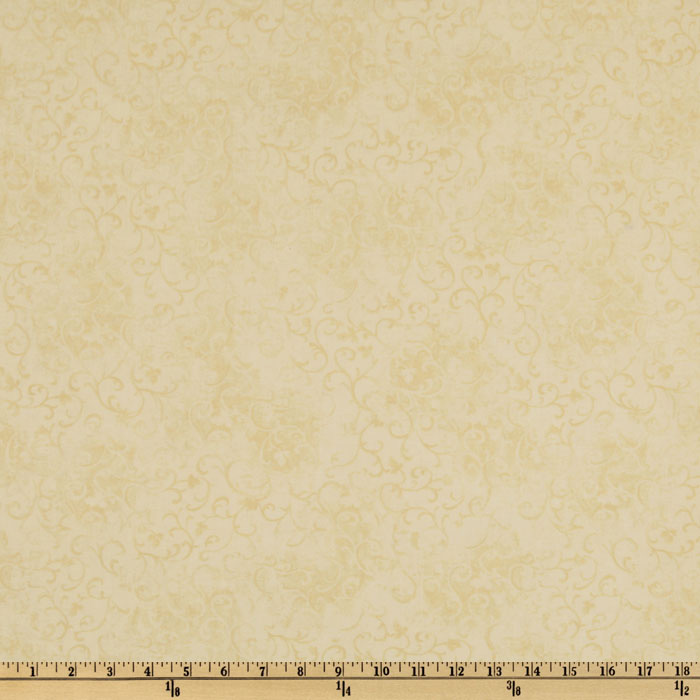 108'' Essential Scroll Quilt Backing Cream