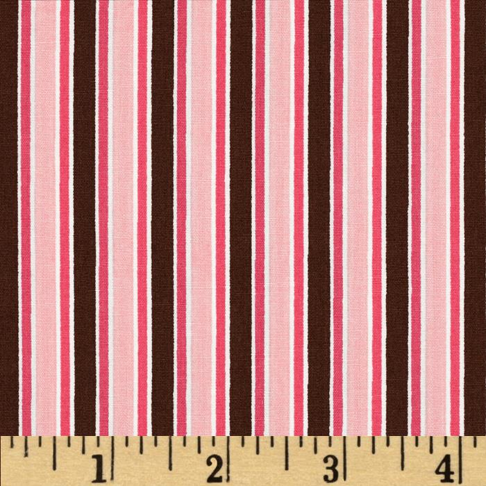 Pimatex Basics Stripe Chocolate/Pink
