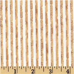 Winter Celebration Mini Stripe Tan