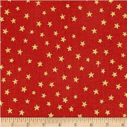 Christmas Metallic Star Red