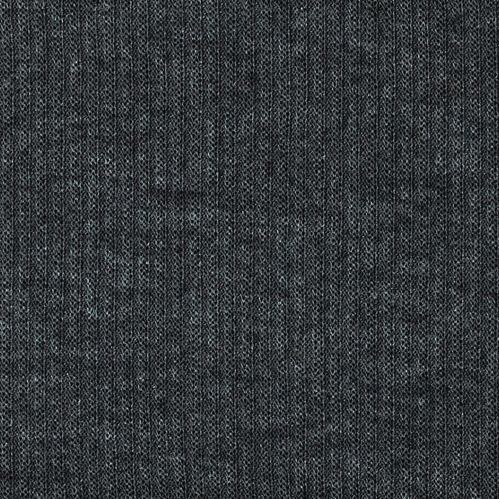 Stretch Hatchi Rib Knit Heather Dark Grey