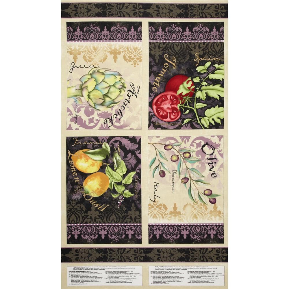 Della Terra Placemat 24'' Panel Multi Fabric