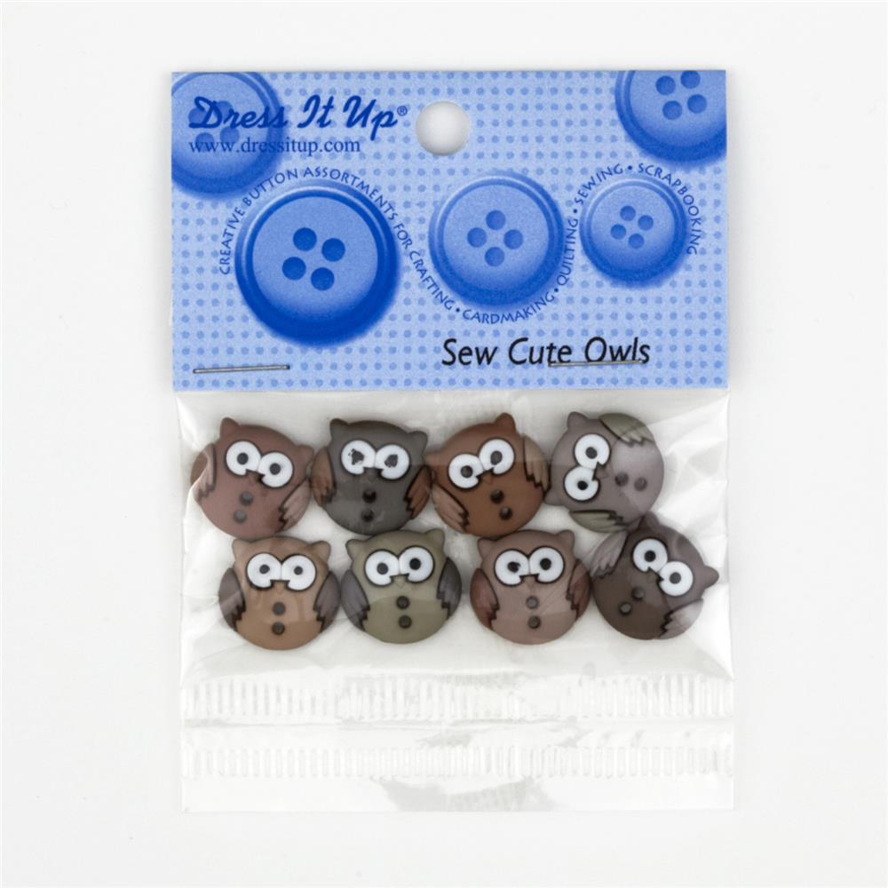 Dress It Up Embellisment Buttons  Sew Cute Owls