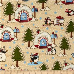 Polar Pals Flannel Igloo Cream