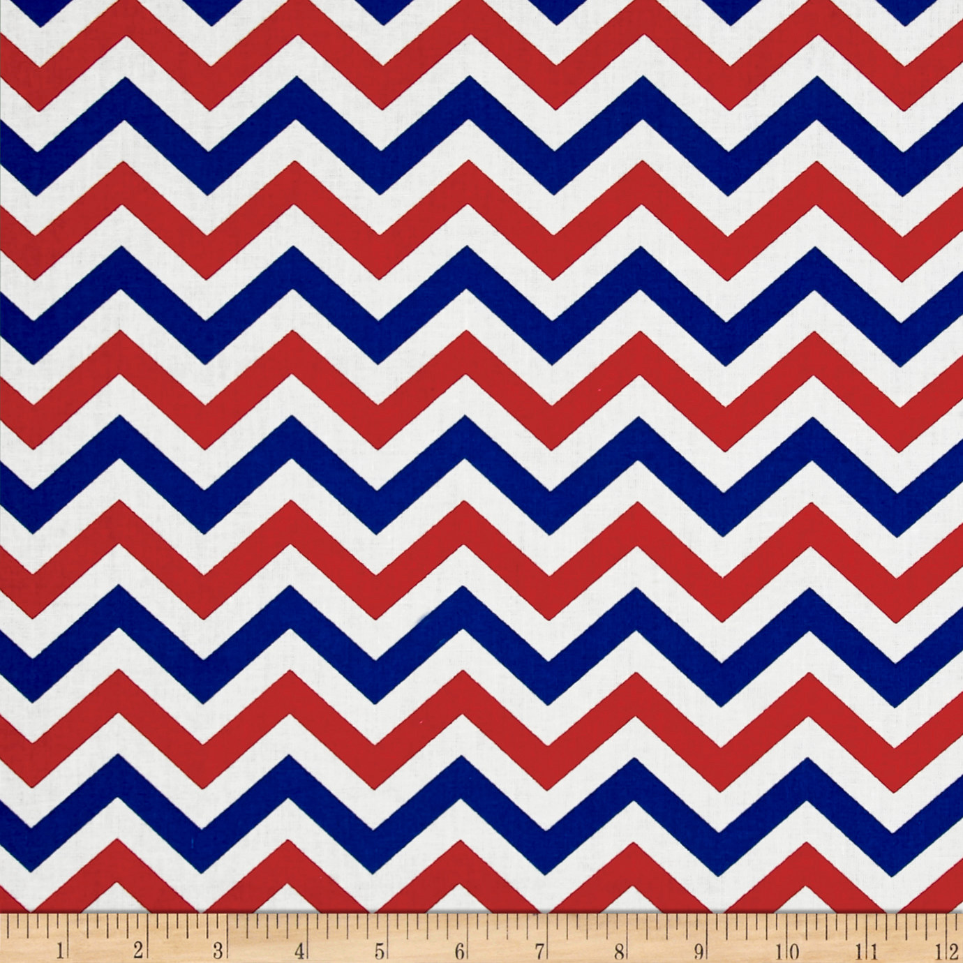 Made In The USA II Chevron Red/White/Blue Fabric