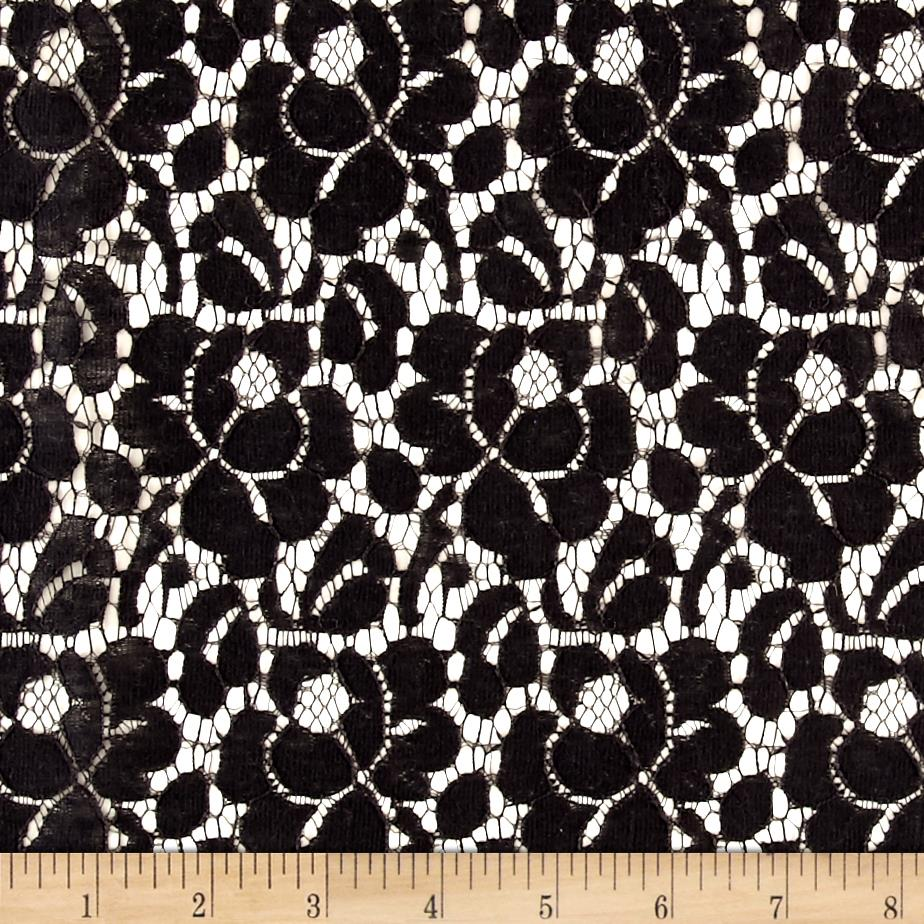 viola rose black lace discount designer fabric fabriccom