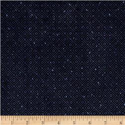 Folk Art Flannels Diamond Texture Navy