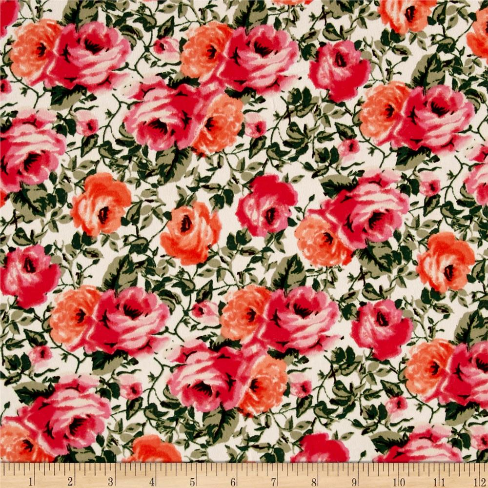 Peachskin Floral Pink/Ivory