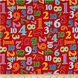 Count With Me Numbers Allover Red