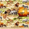 Timeless Treasures Safari Animal Scenic Scenic