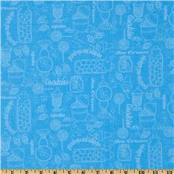Gumdrops & Lollipops Sweetshoppe Toile Blue