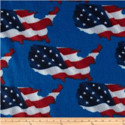 American Flag Fleece Blue