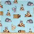 Comfy Flannel Prints Lying Cats Blue