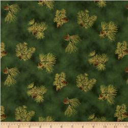 Holiday Accents Classics 2013 Metallic Pine Cones Green
