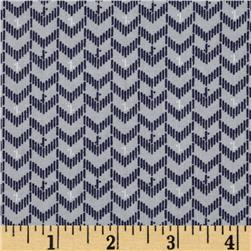 Dear Stella Emerson Chevron Grey Fabric