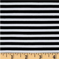 Avalana Jersey Knit Stripe Black/White