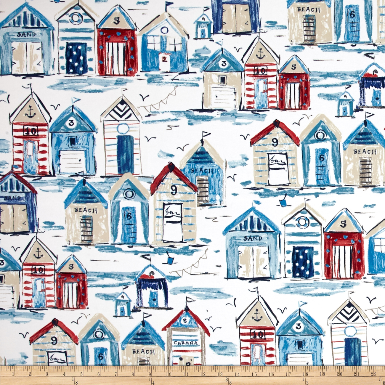 Richloom Solarium Outdoor Bay Cove Sailor Fabric By The Yard by Richloom in USA