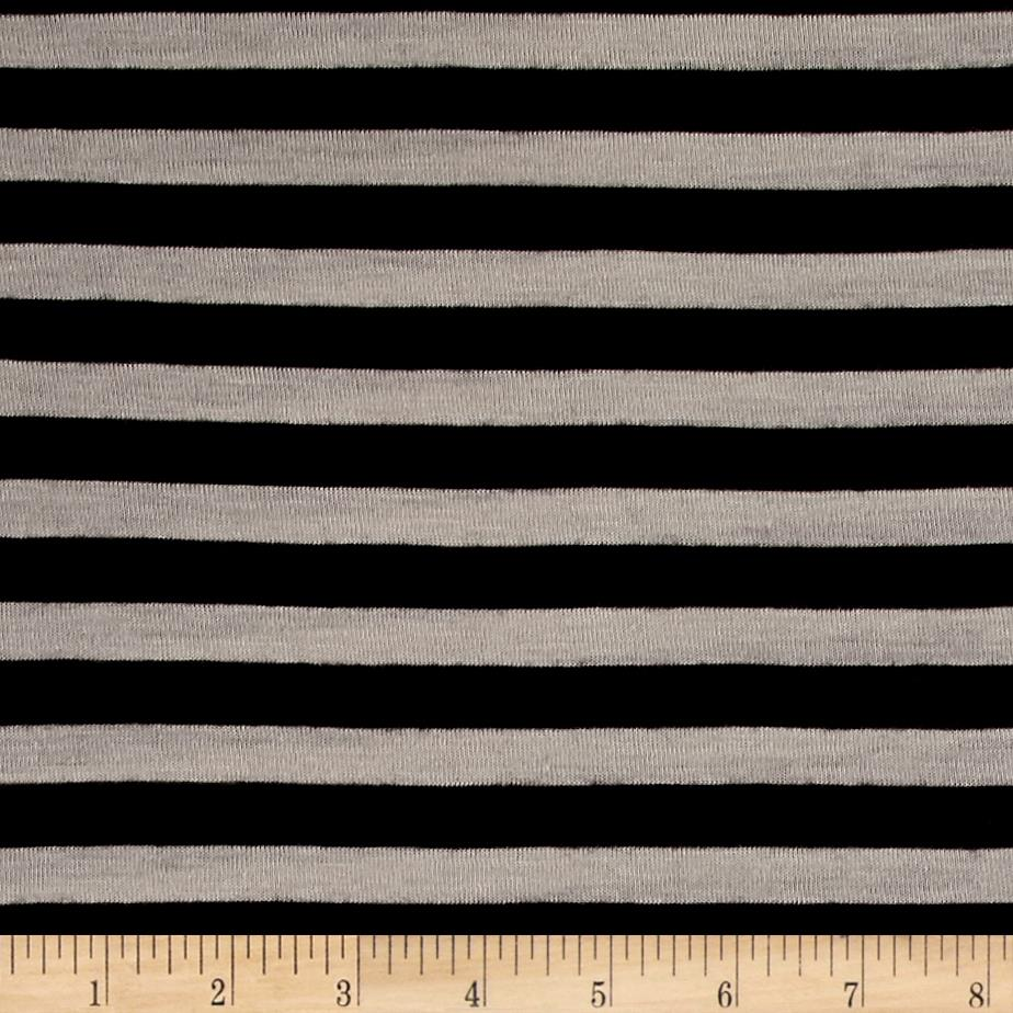 Striped Hatchi Knit Black/Peanut Stripes