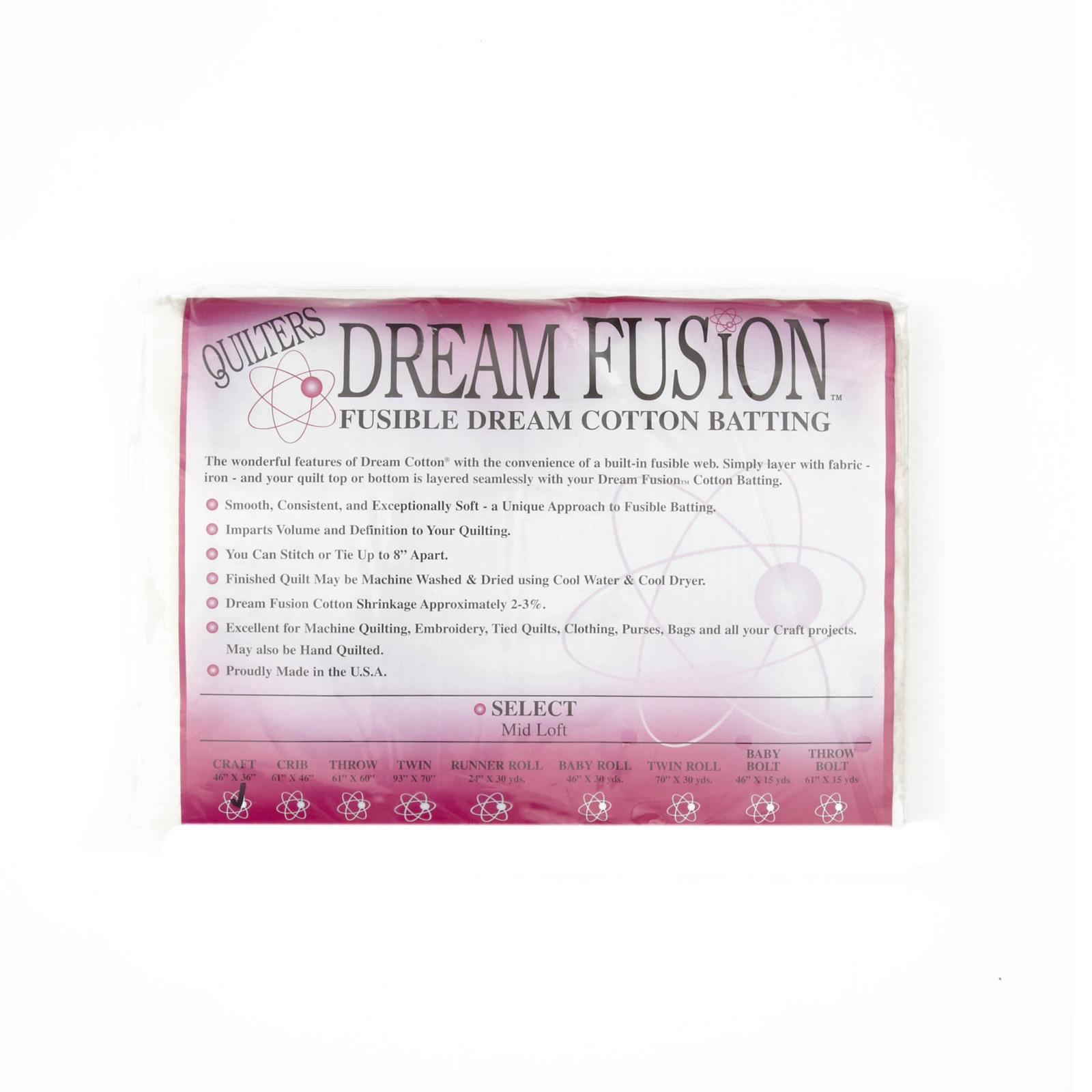 Quilter's Dream Fusion Cotton Select (46'' x 36'') Craft by Quilter's Dream in USA