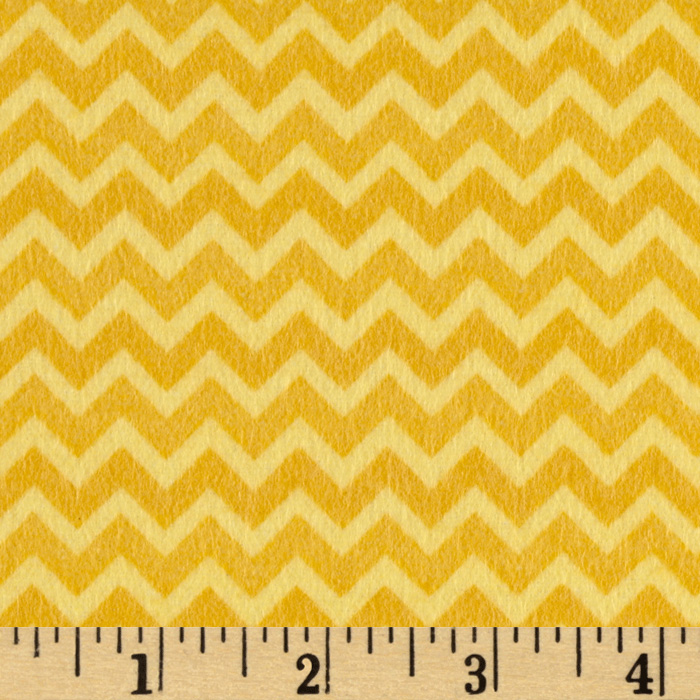 Riley Blake Camp a Lot Flannel Chevron Yellow